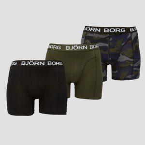 BJORN BORG Forest night boxershort 3-pack zwart/groen heren Heren