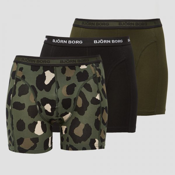 BJORN BORG Bjorn borg essential sammy boxershort 3-pack groen heren Heren