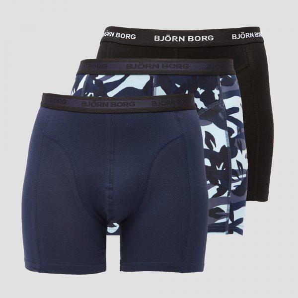 BJORN BORG Essential sammy boxershort 3-pack blauw heren Heren