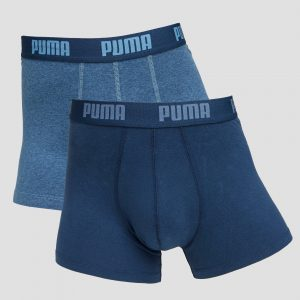 Puma Puma basic boxershort 2-pack blauw/jeansblauw heren heren